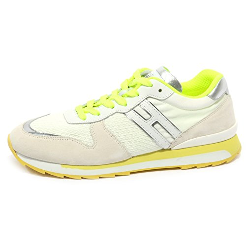 Hogan B1471 Sneaker Donna Rebel Allacciato Bianco/Giallo/Argento Shoe Woman [37.5]