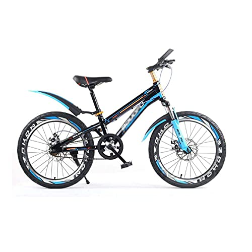 HUAQINEI Single Speed Double Disc Brakes Youth Kids Front Shock Absorber Mountain Bike 5-14 Years Old Bicycle Frame Children,20