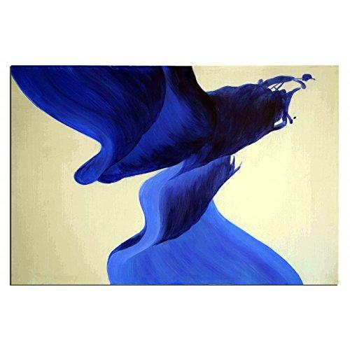 ruedestableaux - Tableaux abstraits - tableaux peinture - tableaux déco - tableaux sur toile - tableau moderne - tableaux salon - tableaux triptyques - décoration murale - tableaux deco - tableau design - tableaux moderne - tableaux contemporain - tableaux pas cher - tableaux xxl - tableau abstrait - tableaux colorés - tableau peinture - Panache bleu