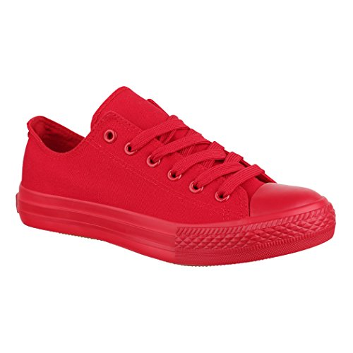 Jumex Unisex Sneaker Textil Turnschuh Low top Chunkyrayan 36-46 ZY9032-Rot-44P