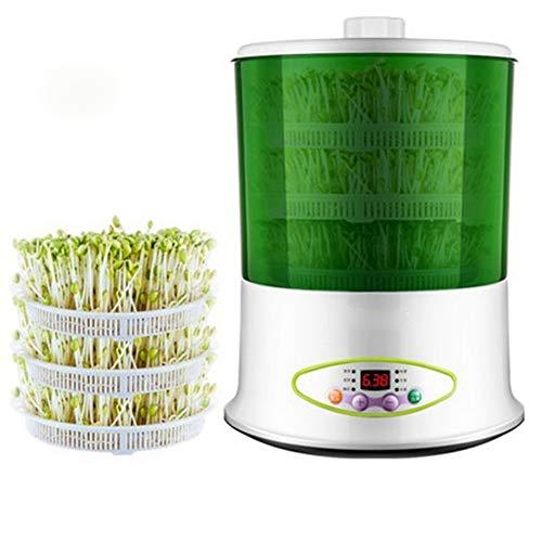 HZHHH Indoor Garten, 2 Layer / 3 Schicht Multifunktionale Gemüse Sprouts Maschine Seed Germinator Startseite DIY Joghurt Reis Wein-Hersteller 220V,B