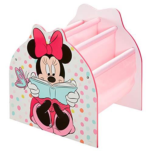 Minnie Mouse Bibliothèque à Pochettes Rangement de Livres pour Chambre d'Enfant , Dimensions apprximatives Une Fois montée (H) x 39,5cm (l) x 35cm (P) o