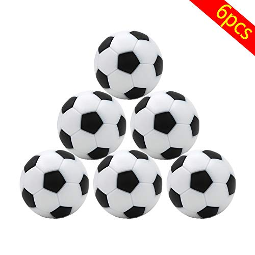 fuxunamz 6 PCS Tischfußball Kickerbälle, Durchmesser 32mm, Schwarz und Weiß, Tischkicker Mini Ball, Aus ABS Hart Kunststoff, Bulk Tisch Kicker Bälle, Umweltschutz Ersatzteil für Spielzeug Spiel