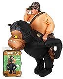 Disfraz de Mono Inflable |Disfraz de Gorila Inflable Tamaño Adulto |PoliésterCómodo |Resistente |Sistema de inflación Incluido |OriginalCup®