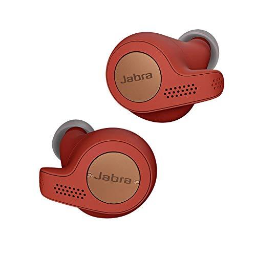 Jabra Elite Active 65t Auricolari, Cuffie Sportive con Funzione Passive Noise Cancelling e Sensore di Movimento per l'Attività Fisica, Chiamate e Musica Wireless, Rosso Ramato