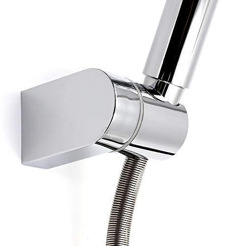 Kusun Supporto universale regolabile testa doccia montato fisso Bagno parete connettore staffa ABS cromato HSZJ002