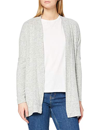 Only Onlkleo L/s Open Cardigan Knt Noos Chaqueta Punto, Gris (Light Grey Melange), 40 (Talla del Fabricante: Large) para Mujer
