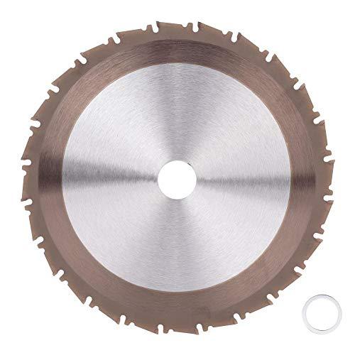 Hoja de sierra circular 210 mm, disco de corte de carburo para sierra de madera metálica, 25,4 mm, hoja de sierra para cortar azulejos de suelo, acero aluminio y hierro