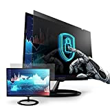Premium Privacy Screen Filter for 27 Inches Desktop Computer Monitor with Aspect Ratio 16:9. Screen Protector Size is 23.54 inch width x 13.27 inch height. Anti Glare and Anti Blue Light Protection
