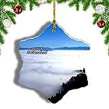 Weekino Suiza Uetliberg Montaña Zúrich Decoración de Navidad Árbol de Navidad Adorno Colgante Ciudad Viaje Porcelana Colección de Recuerdos 3 Pulgadas