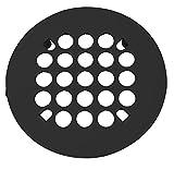Westbrass Florestone Snap-In Shower Strainer, Matte Black, D3191-62