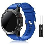 TOPsic Garmin Fenix 5 Armband - Silikon Sportarmband Uhr Armband Ersatzarmband mit Werkzeug für Garmin Fenix 5 Smartwatch