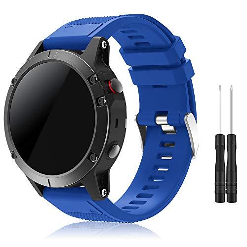 Garmin Fenix 5 Banda, TOPsic Silicona Reemplazo Correa con 2pzs Destornilladores para Garmin Fenix 5 / Forunner 935 Smart Watch, 13.5cm-22.5cm, no Adapta a Fenix 5x, 5s