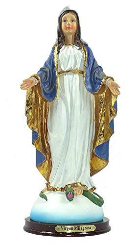 """Imagen de Nuestra Señora de la Medalla Milagrosa, conocida comúnmente como """"La Milagrosa"""". Elaborada en resinas policromadas. Medidas: 32x13x11,5 cms. aprox.."""