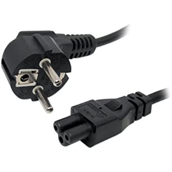 3 metros Espa/ña Cable alimentaci/ón CPU-Red el/éctrica Iggual PSIPC-186-VDE-3M color negro