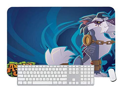 Alfombrilla de ratón para juegos con diseño de animales Jam Greely para escritorio y portátil, 1 paquete de 800 x 300 x 3 mm, 31,5 x 11,7 x 1,1 pulgadas