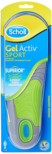 Scholl Insoles Men's Sport Gel Active UK Shoe Size 7-12