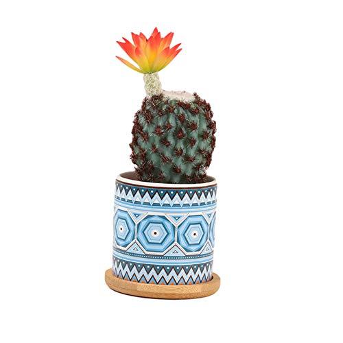 Wisson Simulation Plante en Pot, céramique et Plastique Plantation Petit Pot de Fleur Style bohème Simulation Plante Verte Bureau décoration Plante pour Bureau à Domicile