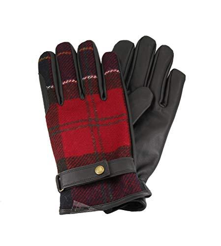 Barbour BAACC1398 RE35 guantes hombre Marrón/Rojo XL
