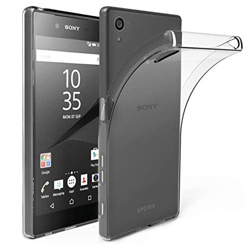 Verco Handyhülle für Sony M4 Aqua Hülle, Handy Cover für Sony Xperia M4 Aqua Hülle Transparent Dünn Klar Silikon, durchsichtig