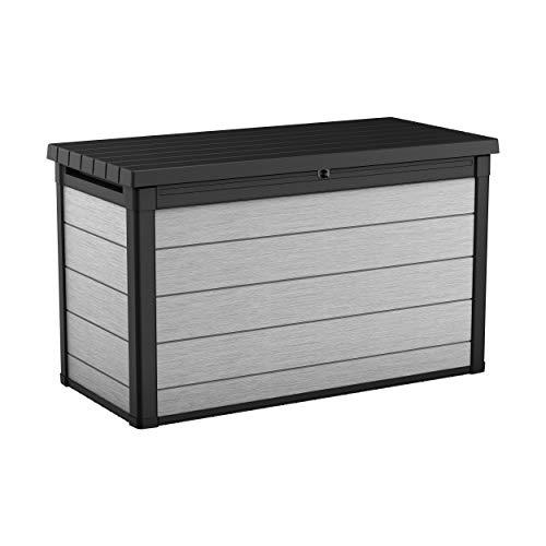 Koll Living Aufbewahrungsbox Maxi - hochwertige Gartenbox mit Gasdruckfedern - viel trockener Stauraum für Sitzauflagen oder Gartengeräte - 100% wasserdicht - mit Belüftungssystem (Maxi 757 Liter)