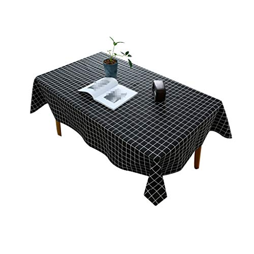 Gquan tafelkleed van katoen en linnen, geruit motief, tafelkleed 30 °, watertemperatuur schoon, strijken bij lage temperatuur, grootte 8 keuken, optioneel, restaurant, picknick, binnen en buiten 140*220cm