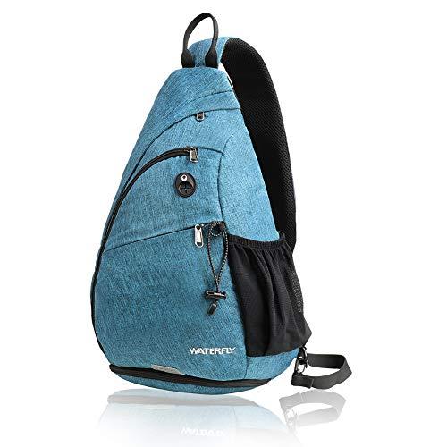 Waterfly Crossbody-Tasche, Umhängetasche, klein, Brusttasche, Schultertasche, Rucksack, für Damen und Herren.