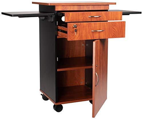 Oklahoma Sound MMC Multi Media Cart, 19' Length x 25' Width x 38' Height, Wild Cherry/Black