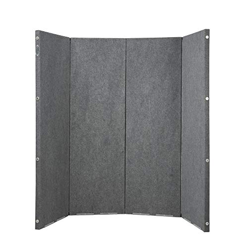 VERSARE Versifold Acoustical Room Divider - Folding Partition Panel Sound Reducing Screen | Office Divider | Gray 8 x 6.6