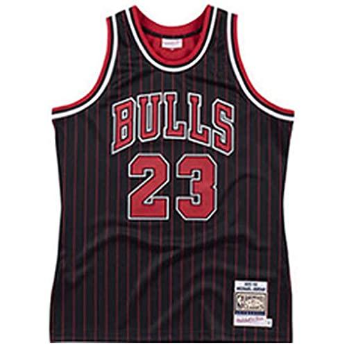 DIMOCHEN Camiseta de Baloncesto Michael Jordan # 23 Chicago Bulls para Hombres, Fresco, cómodo (Size:S,Color:G3)