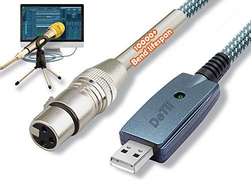 Mircophone USB Cable 10ft XLR to USB Cord 3 Pins USB XLR Cable Mic Link Converter Mic XLR to Pc Usb Cable USB XLR Female Connect cord Mirc Cord for Instruments Recording Karaoke USB XLR Cable 2020 NEW