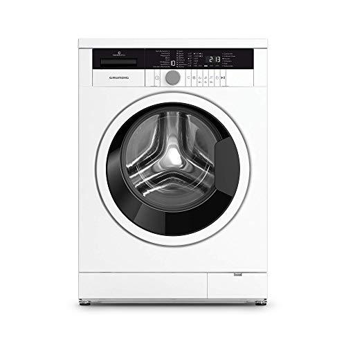 Grundig Edition 75 Waschmaschine 1/1400 U/min/LED-Display mit Sensortasten/Inverter EcoMotor/10 Jahre Motorgarantie/8 kg/WaterProtect+/weiß/Energieklasse C
