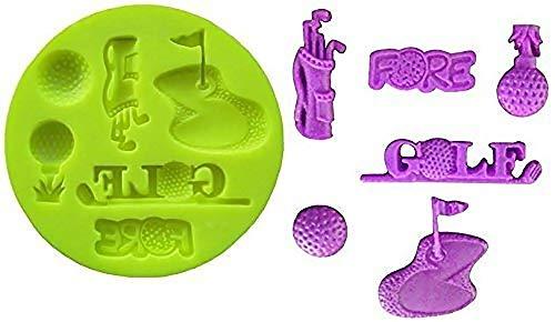 Siliconen mal voor ambachtelijk gebruik van zak met golfclubs - golfbaan - golfballen met kleine dikte