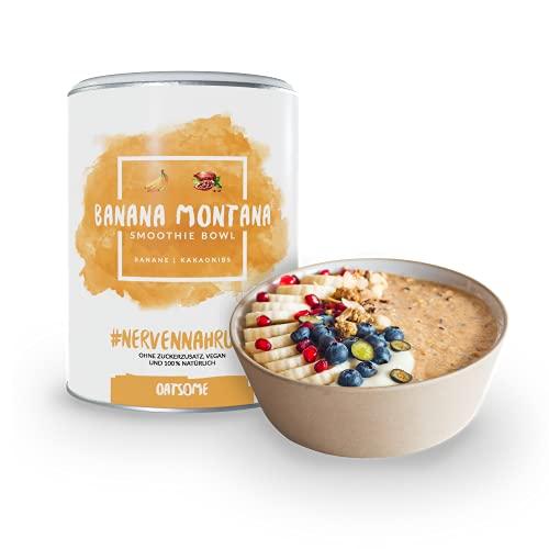 Oatsome Smoothie Bowl Banane & Kakaonibs - Frühstück Pulver für vegane Ernährung - 1min Zubereitung - 100% natürlich, ohne Zusatzstoffe und raffinierten Zucker (Banana Montana, 400g)