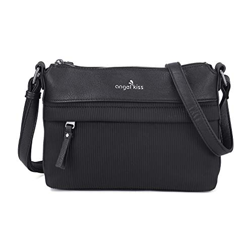 Crossbody Bags for Women,Wave Leather Purse Handbags with Functional Multi Pocket