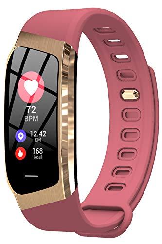 Damen Fitness Armband Uhr mit Blutdruckmessung Herzfrequenz Blutdruck Sport...