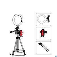 BNMMJライブフィルライトフロアテレスコピック三脚Selfie Ledリングビューティーライトビデオ撮影ライブライトランプブラケット三脚ビューティーランプビデオSelfieメイクライブストリームブラック1.1m + 26cmランプ