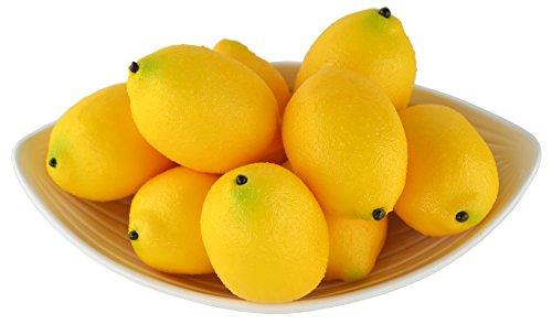 SAMYO Artificial Lemons Simulation Lifelike Small Lemons Fake Fruit for Home Kitchen Wedding Party Decoration Photography 12pcs Set (Yellow)
