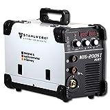 STAHLWERK MIG 200 ST IGBT - MIG MAG Schutzgas Schweißgerät mit 200 Ampere, FLUX Fülldraht geeignet, mit MMA E-Hand, weiß, 7 Jahre Herstellergarantie