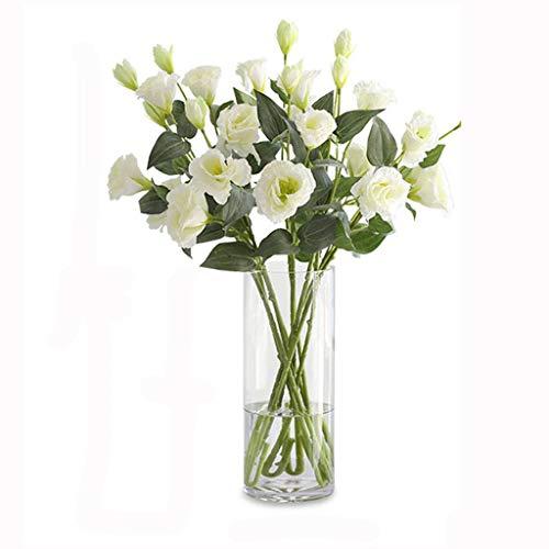 WYWY Künstliche Blumen mit Vase, Fälschung Silk Blumen Blumenarrangements for Home Hochzeit Bürocenter Dekoration (Color : E)