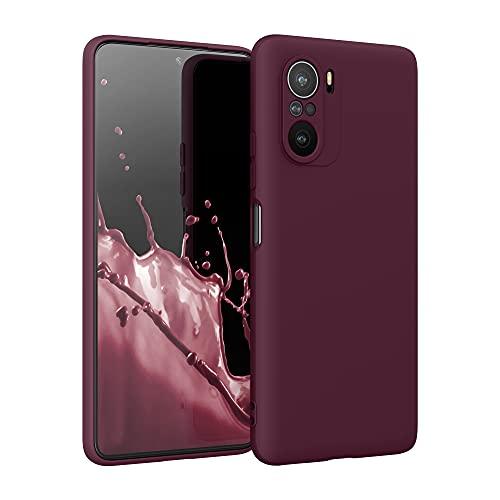 kwmobile Carcasa para Xiaomi Mi 11i - Funda para móvil en TPU Silicona - Protector Trasero en Violeta Burdeos