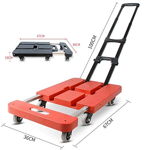 FOLVXY Carretillas Plegables carretillas Plegables,Rueda Carretilla Carro de la Compra Plegable Carretilla para escaleras hasta 200 kg Plegable
