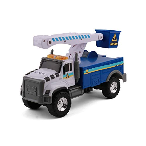 MIGHTY FLEET Rescue Force Tough CAB Cherry Picker Toy Truck
