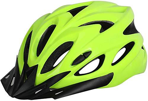 YJIUJIU Casco Bicicleta Adulto con Visera Ajustable Ajustable Casco Bici Ligero MTB...