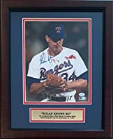 Nolan Ryan Autographed Texas Rangers Signed Framed 8x10 Photo Bo Jackson Bloody AI Verified