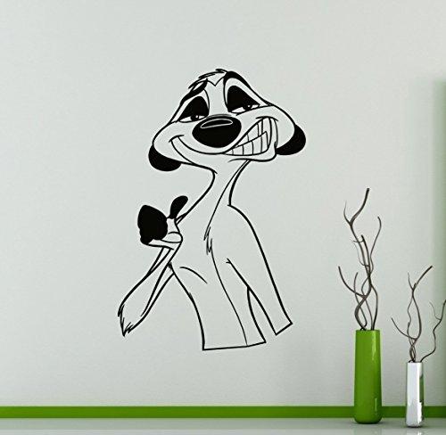 Sticker mural en vinyle amovible Timon et Pumbaa Roi lion Disney Dessins animés pour la maison et l'intérieur de la chambre des enfants 2 (robinet)