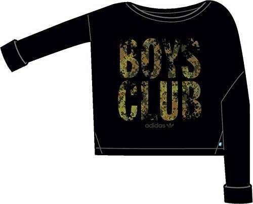 adidas Langärmliges Sweatshirt Originals Knit Sweat - Sudadera para Mujer, Color Negro, Talla XS/S
