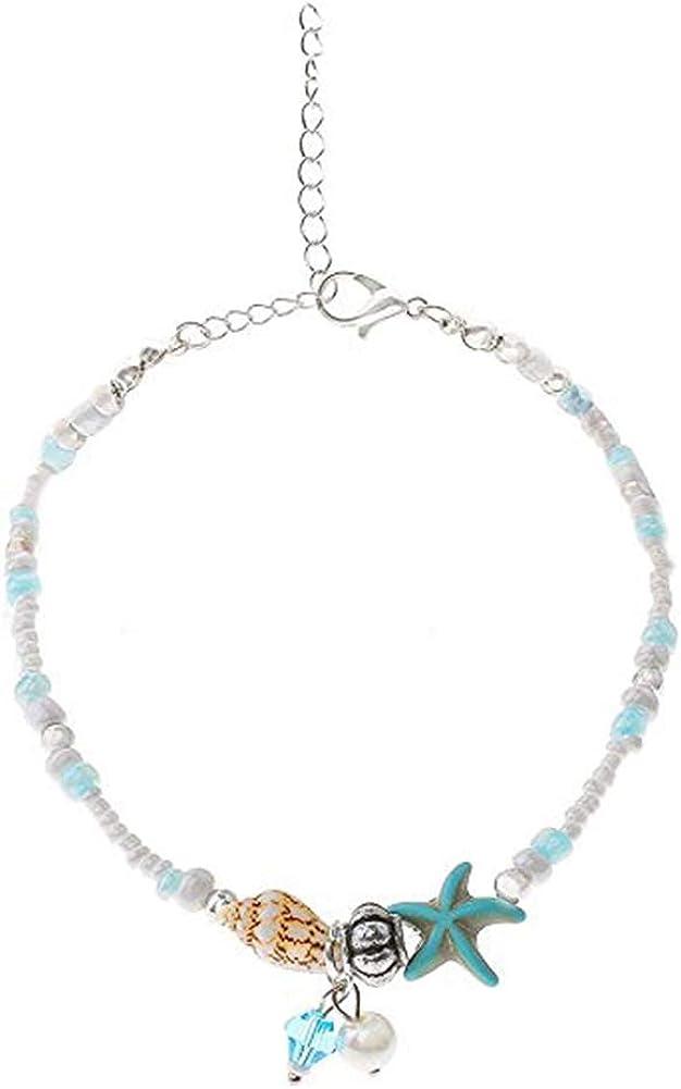 Gsdviyh36 Women Girl Ankle Bracelet, Seashell Charm Ankle Bracelet Foot Chain Anklet, Summer Anklet Beach Jewelry Clothing Accessorias