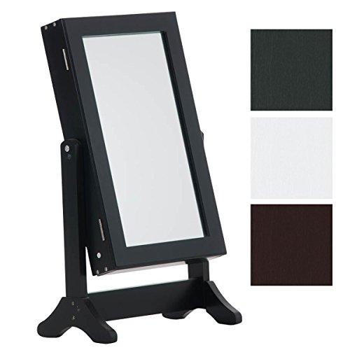 CLP Specchio inclinabile da Tavolo e armadietto portagioie Gina, Stile Rustico