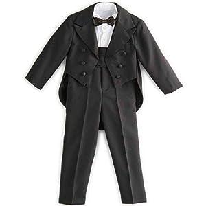 [キャサリンコテージ]子供服 PC002 フォーマル 男の子 タキシード 5点フルセット 90cm ブラック TAK